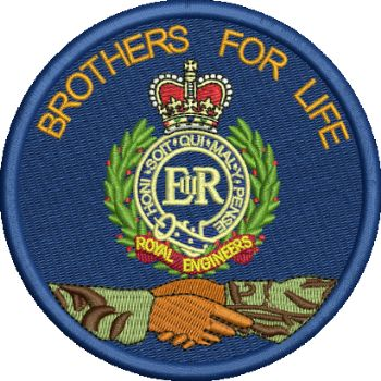 Brothers for Life Embroidered Badge